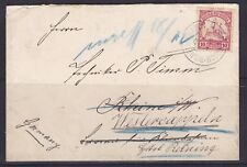 GNG25) German New Guinea 1901 small cover re-addressed from Rhiune