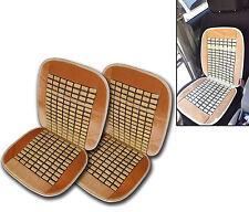 Universal Natural Wooden Beige Bamboo Massage Car Seat Cushion- Set of 2