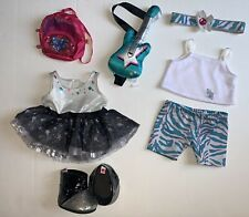 Build a Bear Clothing Accessories Lot Rockstar Bunny Honey Girls Risa