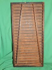 "Vintage, Unusual! SMALL Wooden Printers Tray Drawer Shadow Box 3/4"", 7-1/2"", 15"""