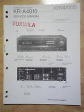 Kenwood Service Manual~KR-A4010 Receiver~Original Repair Book