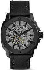 Fossil ME3134 Men's Automatic Watch Black leather strap