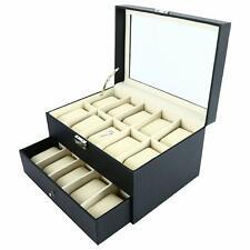 Watch Box Drawer Organizer Pillow Case - 20 Slots Luxury Premium Display Case