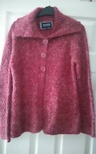 debenhams size 14 burgundy speckled medium soft knit cardigan