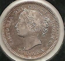 """1899, small """"99,"""" VERY FINE Canadian Ten Cents #1"""