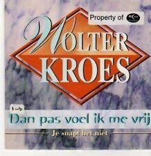 (BC749) Wolter Kroes, Dan Pas Voel Ik Me Vrij - 1996 CD