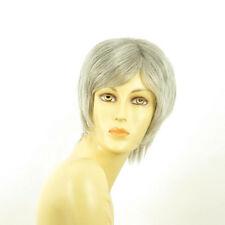 Perruque femme grise cheveux lisses ref  FANNY 51