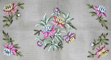 Vintage Paragon Pink Floral Presewn Design Needlepoint Canvas