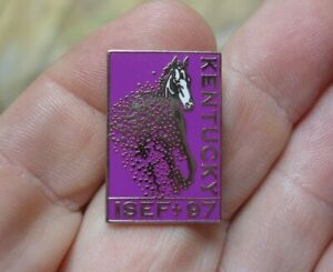 Old Vintage yr 1 Intel sponsor 1997 ISEF Louisville Kentucky horse hat shirt pin