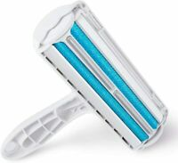 Heglow Pet Hair (BLUE)  Remover Dog & Cat Hair Double-Side Brush Nail Clipper