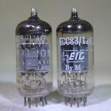 Matched Pair Mullard 12AX7/ECC83 Blackburn England Copper Post O-Getter 1961