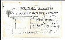 c1840s Coated Stock Business Cd, Elisha Hale's Patent Rotary Pumps, Fire Engines