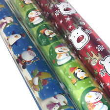NEW 3x 10M Christmas / Xmas Gift Wrap Rolls Wrapping Paper Combo 10M x 500MM