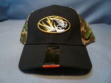 4de41e0c0ca Nike Missouri Tigers Curved Bill Flex Hat Cap Mizzou Dri Fit Camo