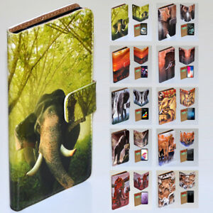 For Samsung Galaxy Series Elephant Theme Print Wallet Mobile Phone Case Cover #3