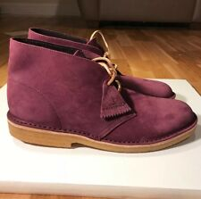 DS CLARKS DESERT BOOT PURPLE GRAPE NUBUCK sz 11 MADE IN ITALY  boots Wu Tang