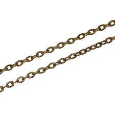 20m Kreuzkette Königskette Halskette Blogger goldfarben Meterware 3x4mm Schmuck