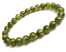 Genuine Natural Green Peridot Gemstone Round Beads Bracelet 6mm AAA