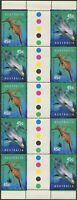 Australia 1998 SG1822-1823 Seadragon And Dolphin gutter block of 10 MNH
