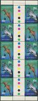 Australia 1998 SG1822-1823 Seadragon And Dolphin gutter block of 10 MNH