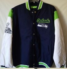 1918584e9 Seattle Seahawks Super Bowl Jacket Size XL