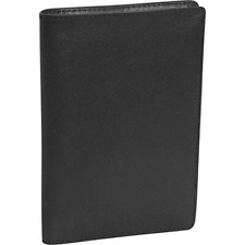 ROYCE NEW YORK LEATHER RFID PROTECTED PASSPORT CREDIT CARD ID TRAVEL WALLET BLK