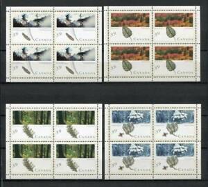 25215) Kanada 1990 MNH Neu Trees - Wälder S/S Bf x4
