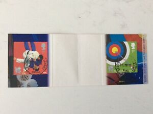 Olympic Games 2012 GB Booklet used stamps Judo Archery