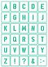 30 Buchstaben Schablonen ● Schriftschablonen Alphabet N35 ● verschiedene Größen