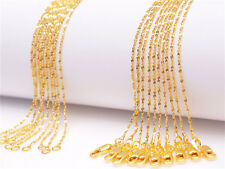 Filled Star Chain Necklaces Wholesale 5Pcs 24inch 18K Yellow Gold