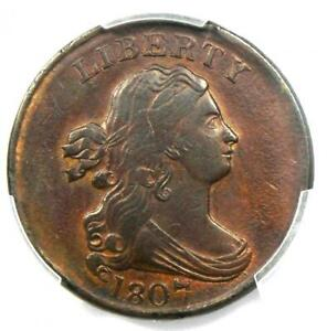 1807 Draped Bust Half Cent 1/2C Coin - Certified PCGS AU Details - Rare Date!
