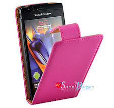 PINK Flip Leather Case For SONY ERICSSON XPERIA ARC X12 + Screen Protector