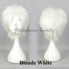 US Women Men Short Cosplay Wig Fluffy Anime Party Straight Hair Wig Halloween af