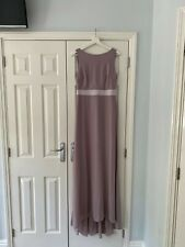 Unworn Grey/Lavender Maxi Bridesmaid Dress (size 12)