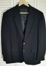 Wimbledon Of England Dillard's Black Sports Coat with Gold Buttons Size: 42R