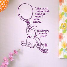 Whinnie The Pooh citas pared Adhesivo gráfico de transferencia de inicio! para Niños Niños Calcomanía