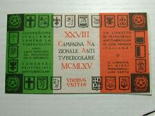 1965   XXVIII° CAMPAGNA  ANTITUBERCOLARE - LIBRETTO completo