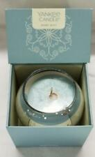 Yankee Candle MERRY MINT Mirror Globe Orb in Box 7 oz Chocolate Mint Silver