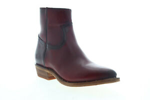 Frye Billy Inside Zip Bootie 70808 Womens Red Leather Ankle & Booties Boots