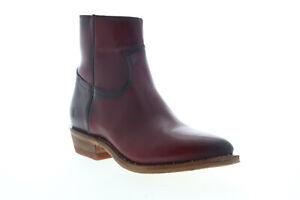 Frye Billy Inside Zip Bootie 70808 Womens Red Leather Zipper Booties Boots
