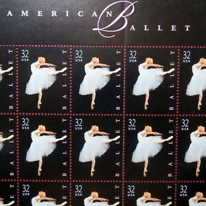 """AMERICAN BALLET"" >>First DAY of ISSUE, UNUSED U.S. Stamp Sheet, NEW Condition"