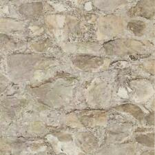 Wallpaper Faux Vinyl Field Stone Rock Gray, Beige, and Taupe