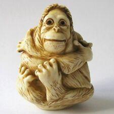 MPS Harmony Kingdom - QTs - Small Orangutan / Ape Figurine - Inspired by Netsuke