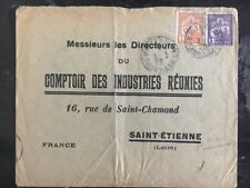 1929 French Indochina Commercial Cover To St Etienne France Account Of Industrie