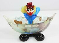 Vintage 1950's Mid Century Modern Murano Italian Art Glass Clown Dish Candy Bowl