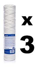 """x 3 20 micron Filtre à sédiments corde enroulée 10 """", osmose inverse, biodiesel"""