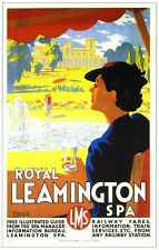 Royal Leamington Spa Railway Vintage Alt Bild Retro Poster A4 Aufdruck