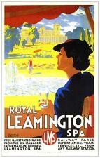 Royal Leamington Spa Chemin De Fer Vintage Ancien Image Rétro Affiche A4 Imprimé