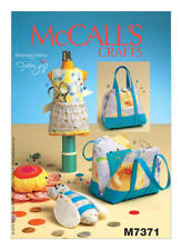 McCall's Sewing Pattern M7371 Mannequin Purse Flower Bee-Shaped Pin Cushions