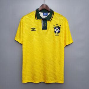 Brazil 1991 1993 home Retro Soccer Jersey classic Shirt